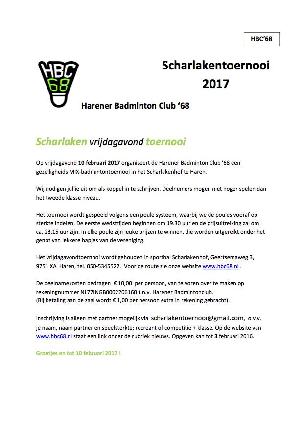 Scharlakentoernooi 2017